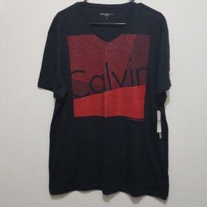 Mens Calvin Klein logo shirt NWT